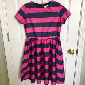 Pink & Blue Striped Dress   Lands' End   16